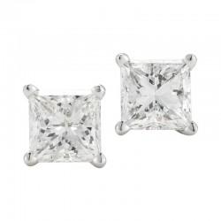 14kw .50cttw Princess Cut Diamond Studs
