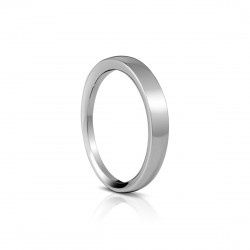 Sholdt 14K White Gold Match Band To R149, Plain Band W/ Dome