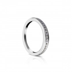 Sholdt 14K White Gold Match Band To R297-1D Channel Dias 1/2 Way W/ Millgrain. 15X1, 2X3/4=0.17