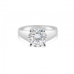 Sholdt 14K White Gold Heavy Version Of R281 W/ 2Ct Round  Engagement Ring