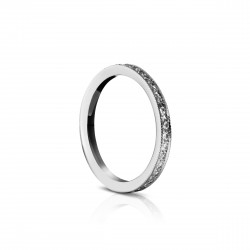 Sholdt 14K White Gold Pave Dias 1/2 Way. 17=0.17Tw Band