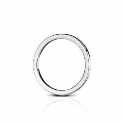 Sholdt 14K White Gold Plain 2Mm Band