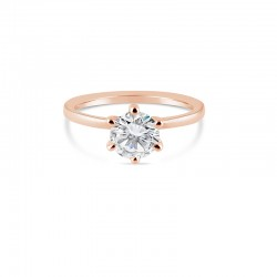 Sholdt 14K White Gold 1.75-2.25Ct Round. Ultra Thin Shank  Engagement Ring