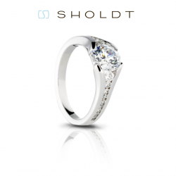 Sholdt 14K White Gold Twisp Split Shank Engagement Ring Mounting.