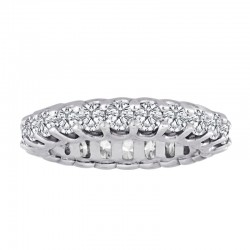 14Kw 2Cttw Prong Set Diamond Eternity Band