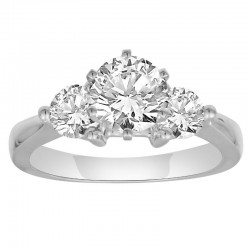 14Kw 1.25Tw 3 Stone Diamond Ring