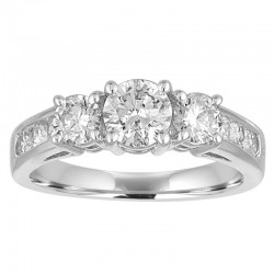 14Kw 1Cttw 9 Stone Diamond Ring
