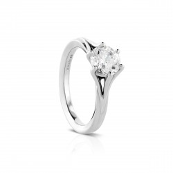 Sholdt 14K White Gold 6-Prong Solitaire Engagement Ring