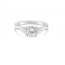Sholdt 14K White Gold Simple Solitaire With Split Shank Engagement Ring