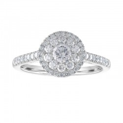14kw .75ct tw Diamond Cluster Ring
