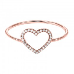 14kw Dainty Delicacies Dia Heart Ring .06cttw