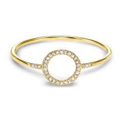 14kw Dainty Delicacies Dia Circle Ring .06cttw