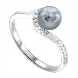 SIL Pearl/Dia Ring .02cttw