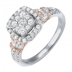 14K Diamond ring 3ctw