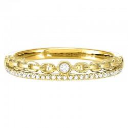 14K Diamond Ring 1/10 ctw