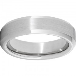 6mm Serinium® Bevel Band Satin