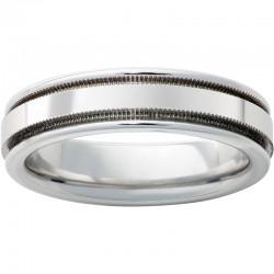 6mm Serinium® Band Milgrain Stone