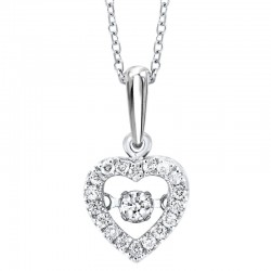 10K Diamond Rhythm of Love Pendant 1/5 ctw