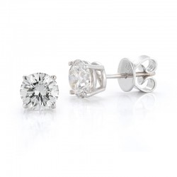 14ktw .29ct tw Diamond Studs; H/I I2/I3