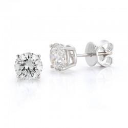 """14kw .47cttw """"B"""" Quality Diamond Studs J/K I1"""