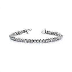 14kw 5ct Dia Tennis Bracelet I/J I1