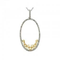 Diamond & Yellow Dia Pendant