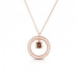 14kr Fancy Color Cognac Diamond Pendant