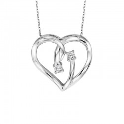 Twogether Sterling Silver Dia Heart Pendant
