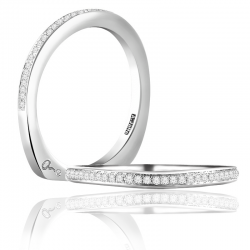 A. Jaffe 18kt White Gold French Pave Wedding Band Thirty-Two