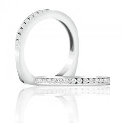 A. Jaffe 18kt White Gold Wedding Band Eighteen Sparkle Diamonds