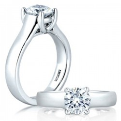 A. Jaffe 18kt White Gold Classic Engagement Ring