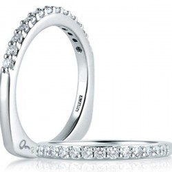 A. Jaffe 18kt White Gold Prong Setting Diamond Wedding/Anniversary Band