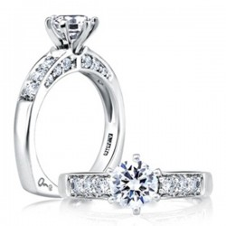 A. Jaffe 18kt White Gold Prong Setting Engagement Ring