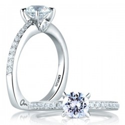 A. Jaffe 18kt White Gold Engagement Ring