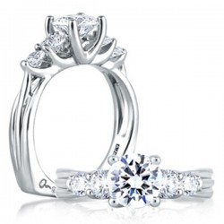 A. Jaffe Engagement Ring Five Stone Setting