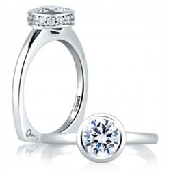 A. Jaffe Engagement Ring Halo Semi-Mount