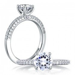 A. Jaffe 18ktw Engagement Ring Micro Pave