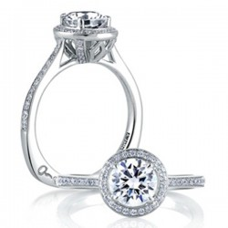 A. Jaffe Engagement Ring Halo Setting
