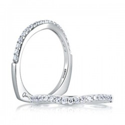A. Jaffe Platinum Shared Prong Wedding Band