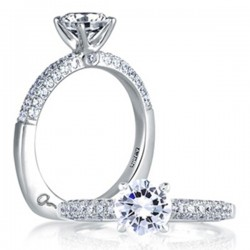 A. Jaffe 18kt White Gold Engagement Ring French Pave Setting