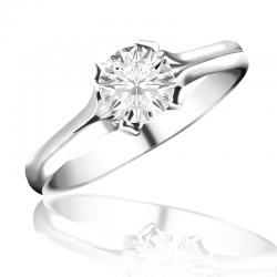 MaeVona 18Kw Oronsay Semi-Mount Solitaire Engagement Ring