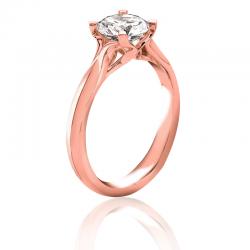 MaeVona 18K Rose Gold Westray Round Cut Engagement Ring