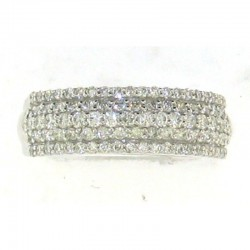 14Kw .85Tw 5 Row Diamond Band, Size 7