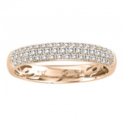 14kr 0.45 Rd Diamond 3 row Band, size 7