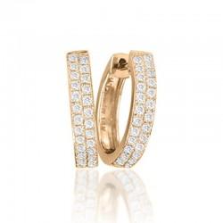 0.37cttw diamond 2 row 14kr huggie earring