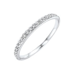 Diamond 1/4 Eternity Asymmetrical  Stackable Band in 10k White Gold