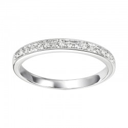 Diamond 1/4 Eternity Slim Stackable Band in 14k White Gold