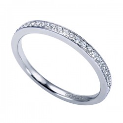 Gabriel & Co 14K White Gold Contemporary Straight Wedding Band