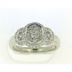 18KW/YG NATURAL YELLOW DIAMOND RING .45CT TW