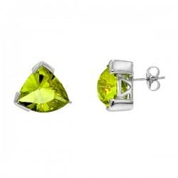 Sterling silver lemon quartz earrings